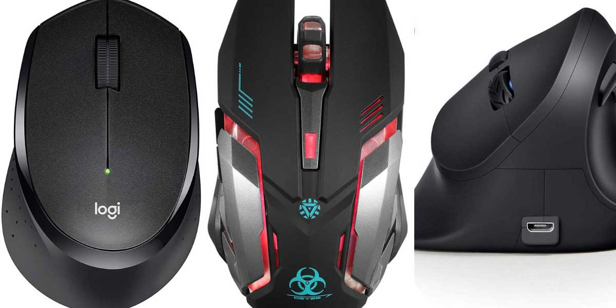 Logitech M330 Silent Plus Wireless Gaming Mouse Quiet-Click Technology 2.4G Wire