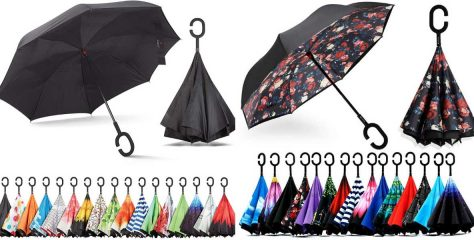 Best 7 Reverse Umbrellas: Inverted Umbrellas Reviews & Buying Guide